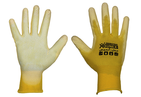 دستکش سانکس sunex gloves دستکش کار دستکش مدل آرمیس دستکش کف پی وی سی