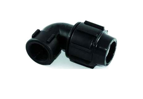 اتصالات پلی اتیلن آبیاری زانو ماده پیچی