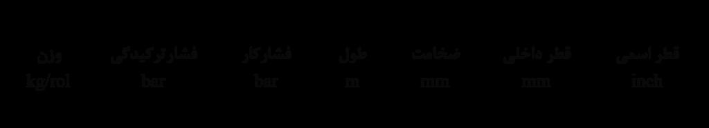 شیلنگ صنعتی داراکار مدل آبنوس جدول