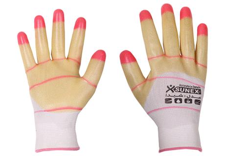 دستکش ژله ای سانکس مدل شیدا دستکش پی وی سی دستکش کار دستکش ایمنی