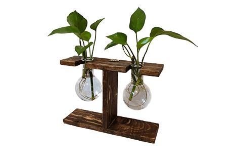 گلدان چوبی پایه دار آیریس